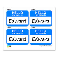 Edward Hello My Name Is - Sheet of 4 Stickers