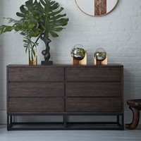 Logan 6-Drawer Dresser - Smoked Brown