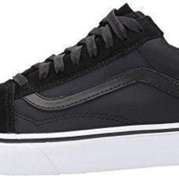 Vans Old Skool Boom Boom Black White Womens Suede Trainers