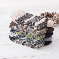 5 Color Knit Wool Socks Casual Warm Winter Mens Boys Male Breathable Socks Lowest Price