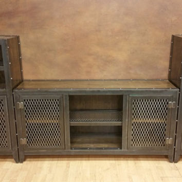Industrial Entertainment Center #013S  •  Industrial Style Furniture by Industrial Evolution Furniture Co.