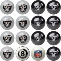 Imperial Oakland Raiders Pool Ball Set