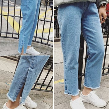 Retro Womens Summmer Denim Jeans Pants Gift 80