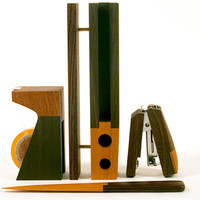 Wood Desk Accessories Set - A+R Store