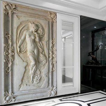 Shop angel statues on wanelo for 3d wallpaper for hall