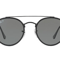 Ray-Ban Polarized RB3647N FLAT LENS Sunglasses | Sunglass Hut