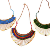 Tribal Necklaces- Green