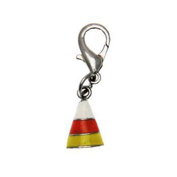Halloween Dog Collar Charm - Candy Corn Lobster Claw