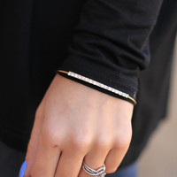 Ice Bar Bracelet in Gold