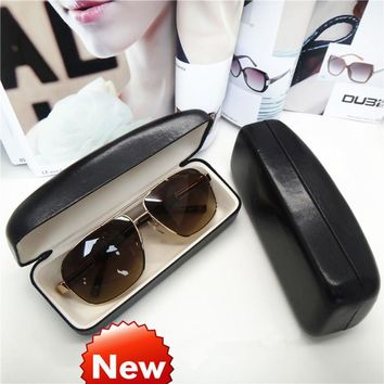 Glasses Box Hard Black Case for glasses color contact lenses  beautician Spectacle-case women's glasses box