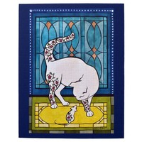 Lookalikes White Cat and Mouse Jigsaw Puzzle