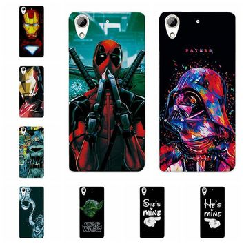 Deadpool Dead pool Taco Charming  Spiderman Case Coque For HTC Desire 626 Cases For HTC 626 628 626w 626G Cover Capa For HTC 628 Desire Dual Sim AT_70_6