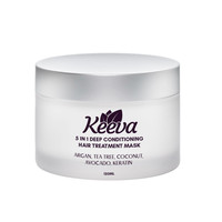 Deep Conditioning 5-in-1 Hair Mask with 100% Organic Argan Oil, Tea Tree, Coconut, Avocado, Keratin - Restores Dry, Damaged, or Color Hair After Shampoo - Sulfate Free