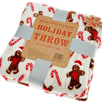 "Berkshire Velvet Soft Oversized 55""x70"" Holiday Throw - H205243 — QVC.com"
