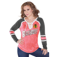 Chicago Blackhawks Touch by Alyssa Milano Women's Hat Trick Long Sleeve T-Shirt – Red