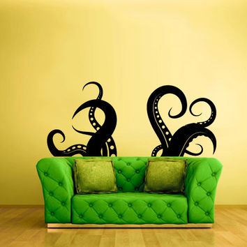 Wall Vinyl Sticker Decals Decor Art Bedroom Bathroom Octopus devilfish poulpe (z685b)