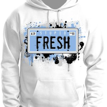 Rufnek Hardware Stupid Fresh Legend Blue White Hoodie