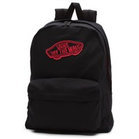 Vans Realm Backpack (Black/Paradise Pink)