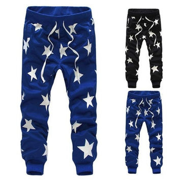 Men/Boys Stars Printing Hip Hop Sweatpants Sports Dance Casual Sagging Pants New [9305623175]