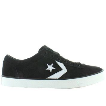 VONES2C Converse All-Star Wells Ox - Black/White Canvas Lace Sneaker