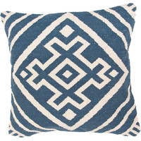 Navy Blue Boca Geometric Pillow