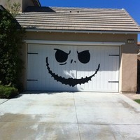 Jack Skellington -  Nightmare Before Christmas Style - Huge Garage Decal - Halloween Decorations - Vinyl Wall Art - Huge 80 x 100 inches