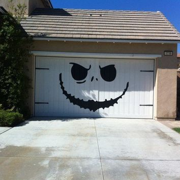 jack skellington nightmare before christmas style huge garage decal halloween decorations vinyl - Nightmare Before Christmas Halloween Decorations For Sale