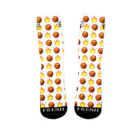 Basketball Emoji Custom Fresh Socks Version 1