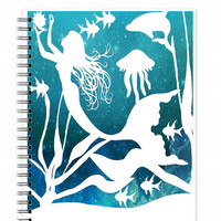 Mermaid Journal - Vacation Diary - Spiral Notebook - Journal Diary - Travelers Journal - School Notebook - Art Notebook