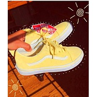 Vans Classics Old School Skool Yellow Sneaker Running Shoes Yellow