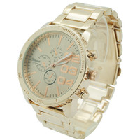 Platinum Rose Gold Women Watch