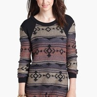 BP. Patterned Tunic Sweater (Juniors) | Nordstrom