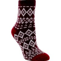 Yaktrax Women's Cozy Cabin Stripe Crew Sock | DICK'S Sporting Goods