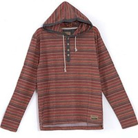 Gliks - Free Nature Aztec Print Hooded Henley for Men