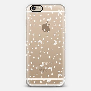 Cosmic Galaxy White Scribble Moon & Stars iPhone 6 case by Season of Victory | Casetify