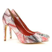 Metal tip printed court - Dark Orange | Footwear | Ted Baker UK