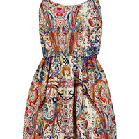 Summer Sketch Colour Paisley Strappy Dress