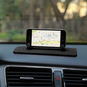 Phone Holder Car Mount Stand Silicone Pad Dash Mat Cradle Dock Anti-slip For Smart Phones Tablet PC GPS Devices Car Recorder  (C