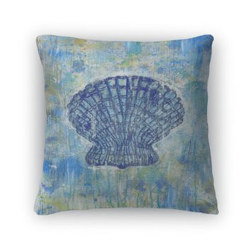 Throw Pillow, Seashell Pectinidae Art Painting