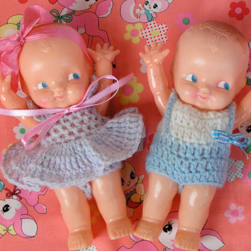 SUPER SALE...Vintage Irwin Kewpie Boy and Girl Doll Set....ooak