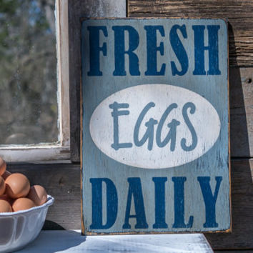 fresh eggs daily sign made from reclaimed wood  chicken farmer chicken signs egg signs backyard chickens eggs chicken coop sign chicken farm