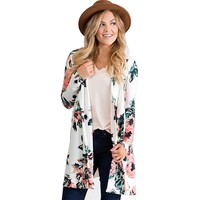 Fashion Women Long Sleeve Cardigan Sweater O-Neck Knitted Coat Slim Sweater Loose Kimono Open Stitch Cover Up Plus Size 3 Color