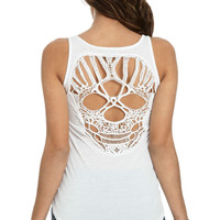 Skull Crochet Tank | Shop Just Arrived at Wet Seal