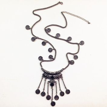 New Arrival Jewelry Gift Shiny Gemstone Sweater Chain Stylish Tassels Hot Sale Necklace [1292354191427]
