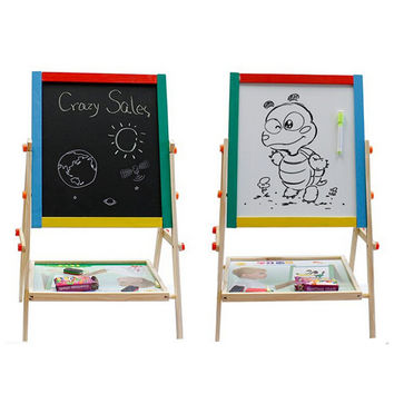 2 In 1 blackboard and whiteboard Children's Paint & Drawing Artist Easel