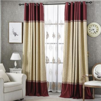 {Byetee} Ready Made Curtain Stripe Bedroom Curtain Door Window Screening Blackout Kitchen Curtains For Living Room Drapes