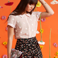 Let's Do Lovely Button-Up Top in Puff | Mod Retro Vintage Short Sleeve Shirts | ModCloth.com