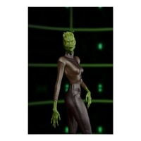 Green Reptilian Female Alien - Futurisic, Science Fiction Poster Art