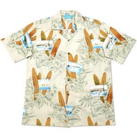 woody cream hawaiian cotton shirt
