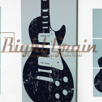 Custom Guitar Art - Rock and Roll Artwork - Original Screenprint by RightGrain